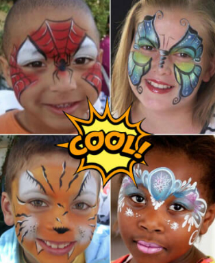 cool face painting designs by the Wow Factory